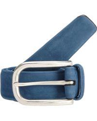 Barneys New York Suede Leather Belt - Lyst
