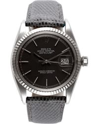 CMT Fine Watch And Jewelry Advisors - Rolex Stainless Steel and White Gold Datejust with Rare Grey Dial - Lyst