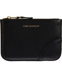 Comme Des Garçons Luxury Leather Small Zip Pouch - Lyst