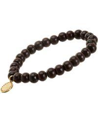 Devon Page Mccleary - Sandalwood Bead Bracelet With Diamond Serene Buddha Charm - Lyst