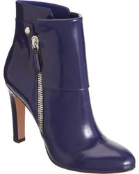 Gianvito Rossi Patent Cuffed Ankle Boot - Lyst