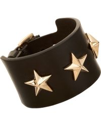 Givenchy - Triple Star Small Leather Cuff Bracelet - Lyst