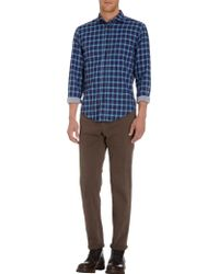 Hartford Blue Check Shirt - Lyst