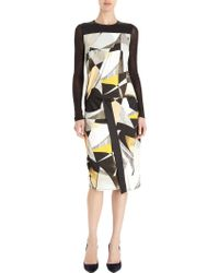 Helmut Lang Cubist Print Dress - Lyst