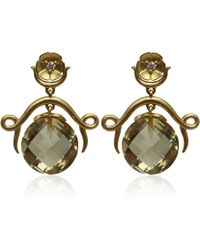 Paul Morelli - Gold Flower Drop Earrings - Lyst