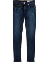 Rag & Bone Bright White Skinny Jeans - Lyst