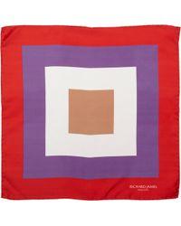 Richard James - Concentric Squares Pocket Square - Lyst