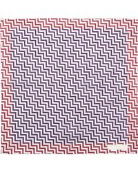 Richard James - Zigzag Pocket Square - Lyst