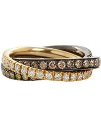 Roberto Marroni - White Yellow Brown Diamond Triple Ring - Lyst