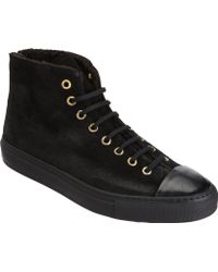 Rocco P - Distressed Back Zip High Top - Lyst