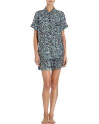 Sea - Digital Floral Short Sleeve Pajama Shirt - Lyst