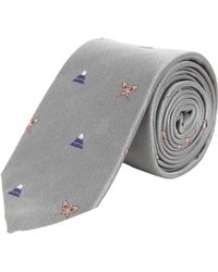 Thom Grey - Snowcapped Mountain Embroidered Tie - Lyst