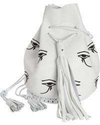 Wendy Nichol - Embroidered Eye Of Horus Bullet Bag - Lyst
