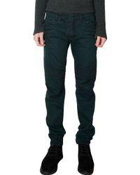 Balmain Ribbed Detail Slim Biker Jeans - Lyst