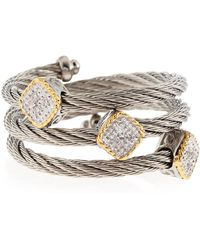 Charriol | Three Station Diamond Cable Ring  | Lyst