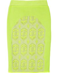 Dagmar | Debbie Neon Stretch knit Pencil Skirt | Lyst