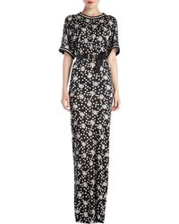 Emanuel Ungaro Margaritaprint Maxi Tee Dress - Lyst