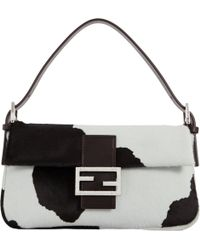 Fendi Cowprint Haircalf Baguette Bag - Lyst