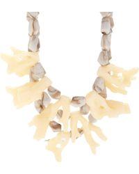 Fenton - Parchment Coral Bib Necklace - Lyst