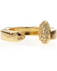 Giles & Brother - Pave Railroad Spike Ring - Lyst