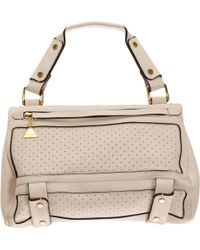 Golden Lane | Perforated Small Duo Satchel | Lyst