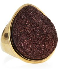 Marcia Moran - Tearshaped Druzy Ring Bronze - Lyst