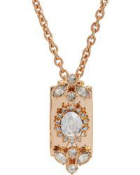 Mawi - Crystal Razor Blade Pendant Necklace - Lyst