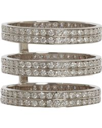 Repossi - Diamond White Gold 3row Berbere Ring - Lyst