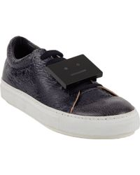 Acne Studios Crackled Adriana Lowtop Sneaker - Lyst
