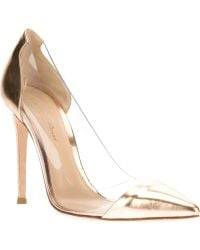 Gianvito Rossi Plexiglass Panel Pump - Lyst