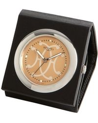 Hermes Black Leather Snap Pouch Timepiece - Lyst