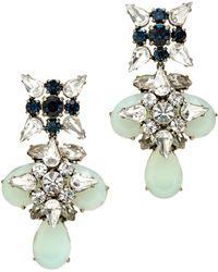 J.Crew Blue Grotto Crystal Earrings - Lyst