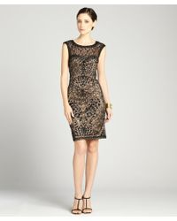 Sue Wong -  Lace Cap Sleeve Party Dress - Lyst