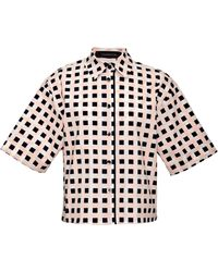 Thakoon Printed Cotton-blend Shirt - Lyst