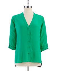 Bailey 44 Colorblock Button up Blouse - Lyst