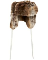 Barneys New York Faux Fur Trapper Hat - Lyst