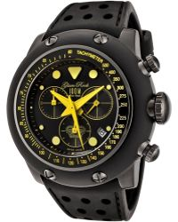 Glam Rock - Race Track Chronograph Black Dial Black Silicone Glamrock Watch - Lyst