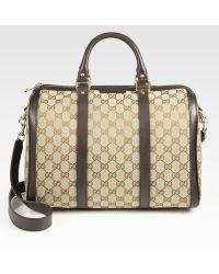 Gucci Vintage Web Medium Boston Bag - Lyst