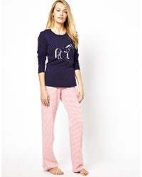 Joules - Cora Pink Stripe Pyjama Bottoms - Lyst