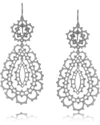 Laurent Gandini | Sterling Silver Drop Earrings | Lyst