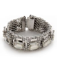 Lee Angel - Emerald Cut Mesh Chain Bracelet - Lyst