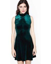 Nasty Gal Envy Velvet Dress - Lyst