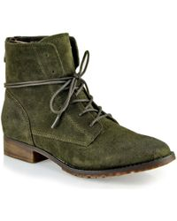 Steve Madden Rawling - Suede Tie Boot - Lyst