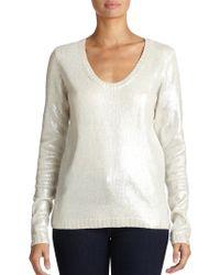 Aiko Elonora Metallic Sweater - Lyst