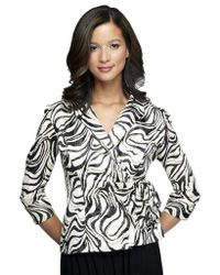 Alex Evenings Swirl Wrap Jacket - Lyst