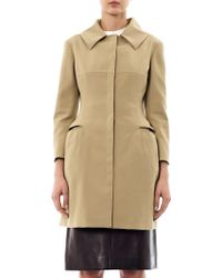 Alexander McQueen Tailored Cotton-Twill Coat beige - Lyst