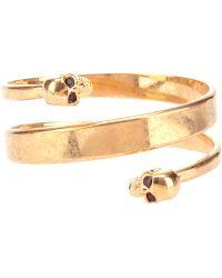 Alexander McQueen Twin Skull Bracelet - Lyst