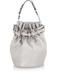 Alexander Wang Diego Metallic Texturedleather Shoulder Bag - Lyst