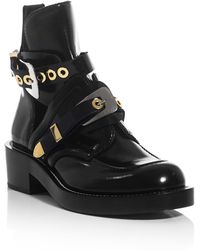 Balenciaga The Ceinture Cutout Ankle Boots - Lyst