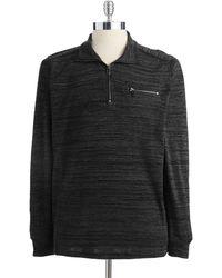 Calvin Klein Gray Pullover Sweater - Lyst